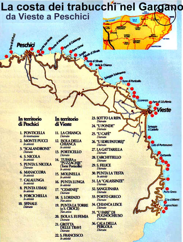 La costa dei trabucchi da Vieste a Peschici